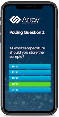 array-poll-gathering-audience-responses-on-phone